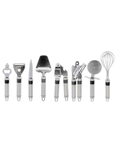Koopman Paslanmaz Çelik Mutfak Seti 9 Parça Renkli